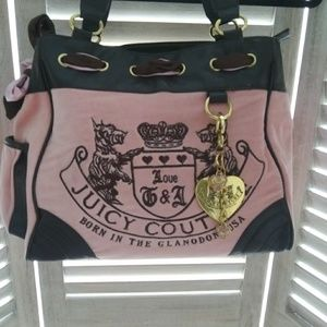 LARGE Juicy Couture bag nice condition pink brown